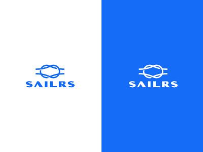 Sailrs wordmark typography branding exploration logo knot sea nautical sailor sail