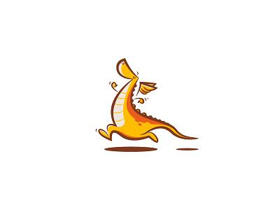Dragon run marathon running illustration dragon