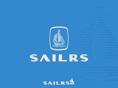 Sailrs brand logo mark sea ship boat sail sailor