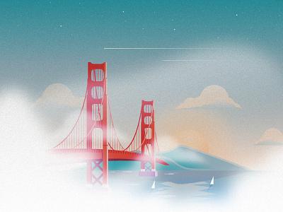 Golden Gate Bridge illustration san francisco golden gate bridge