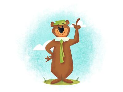 Smarter than the average bear:) affinity bear illustration yogi