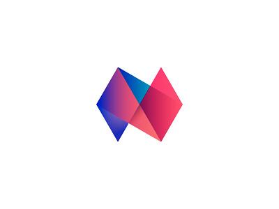 N modern monogram gradients branding logo letter n