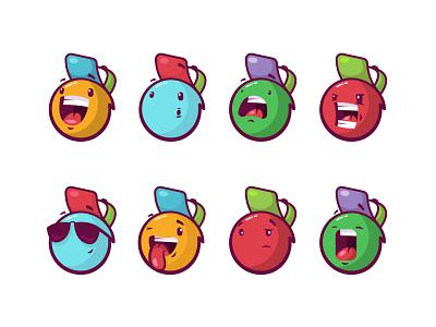 Emoji set illustration set emojis