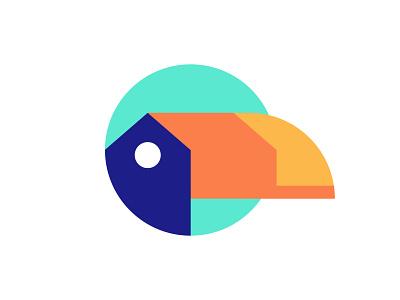 Toucan Villas hotel resort house toucan bird icon brand illustration mark branding logo