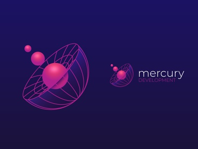Mercury - Logo Redesign space software black hole mercury planets redesign rebrnd logo