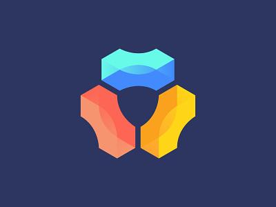 Software logo hexagon design icon mark branding logo
