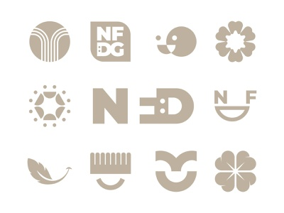 New Falls Dentistry heart clover toothbrush feather tooth smile acronym dentist falls monogram letter mark branding logo