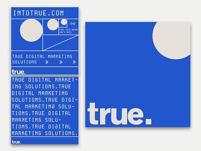 True Brand Identity vector logo typography design branding