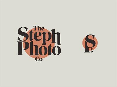 "Brand Identity for ""The Steph Photo Co. vector logo illustration typography design branding"