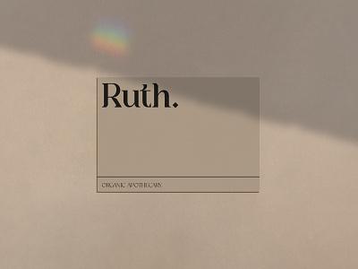 Ruth Business Card Mockup logo illustration typography design branding