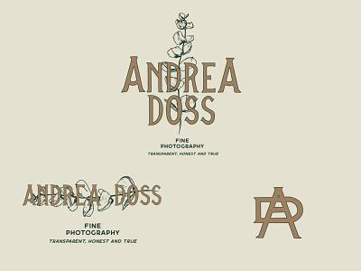 Brand identity for Andrea Doss Photo logo illustration typography design branding