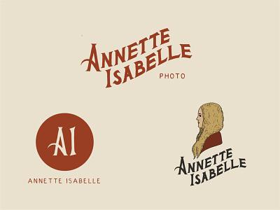 Brand Identity for Annette Isabelle Photo logo illustration typography design branding