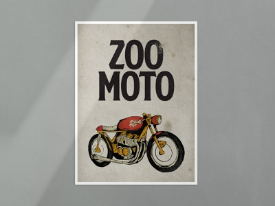Zoo Moto Poster branding illustration typography design