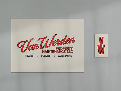 Van Werden brand identity logo illustration typography design branding