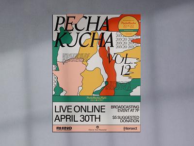 Pecha Kucha Poster poster art poster illustration typography design branding