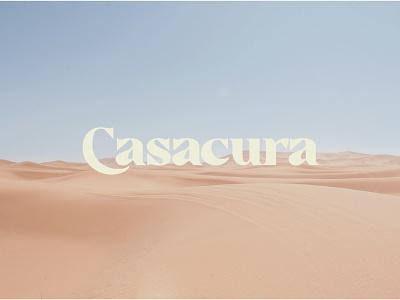 Casacura logo poster logo typography design branding