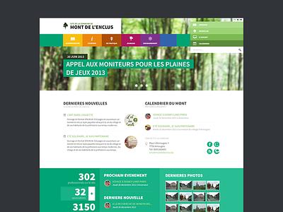 Redesign of my hometown's website webdesign clean modern ui fresh flat layout minimal tourism belgium nature city