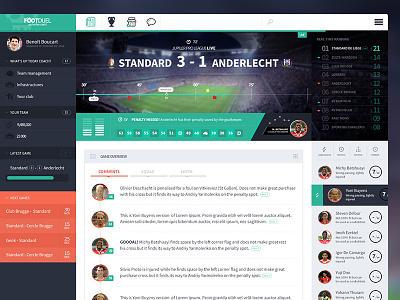 Football app live game timeline modern ui flat tabs soccer app football charts
