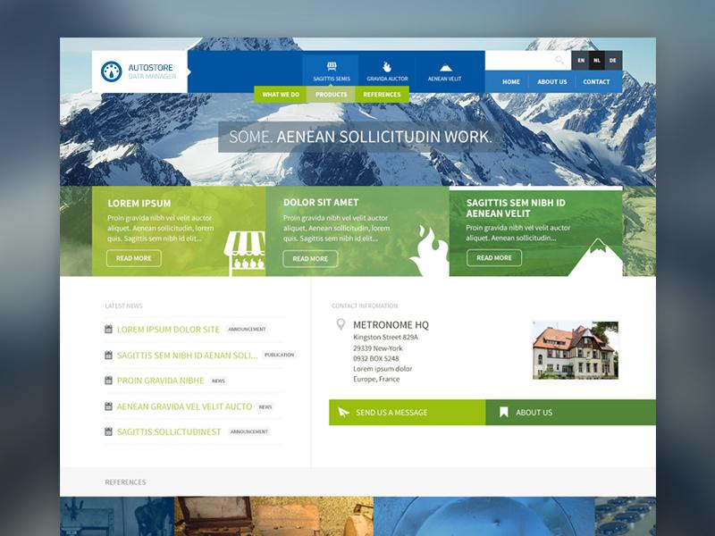 New website design webdesign modern ui flat clean blue green