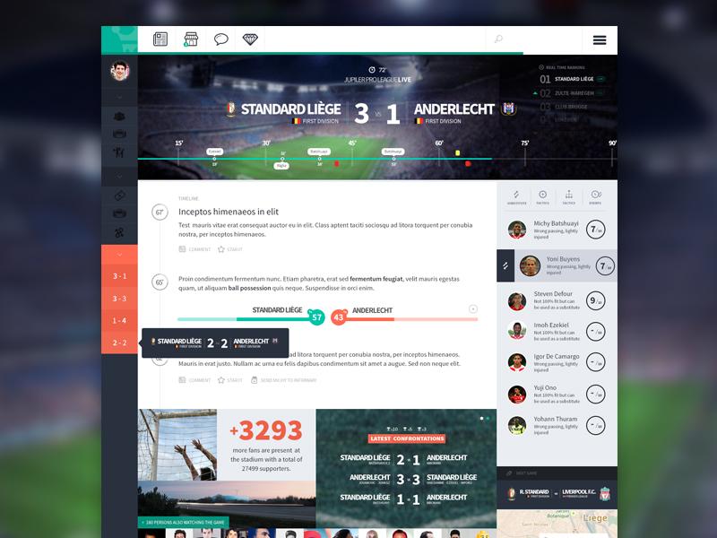 Football App - Live Game part 2 by Benoît Boucart on Dribbble