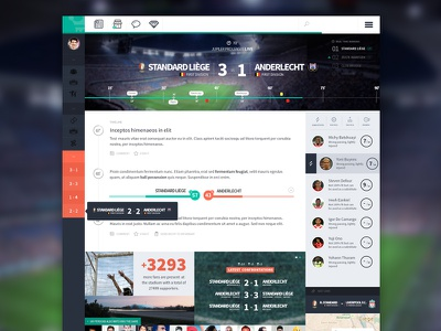 Football App - Live Game part 2 football soccer ui clean minimal timeline sport dashboard stats
