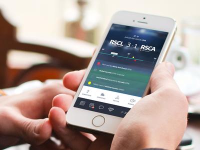 Mobile football app