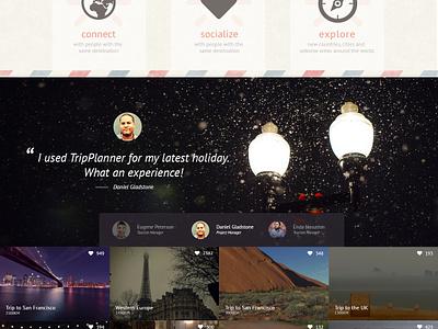 Trip Planner (WIP) webdesign retro ui textures grunge vintage trip