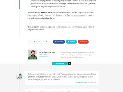 Personal blog redesign personal ui clean modern webdesign blog timeline post flat fresh