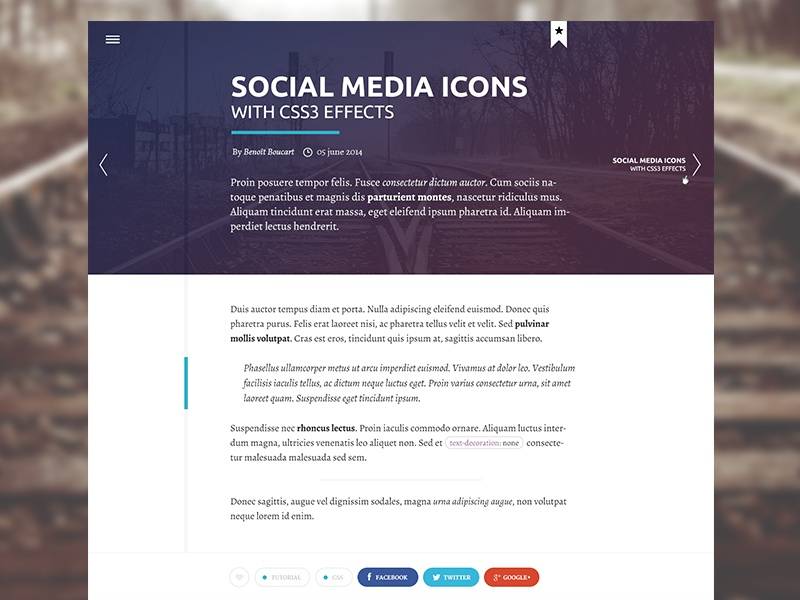 Personal blog redesign personal ui clean modern webdesign blog timeline post flat fresh