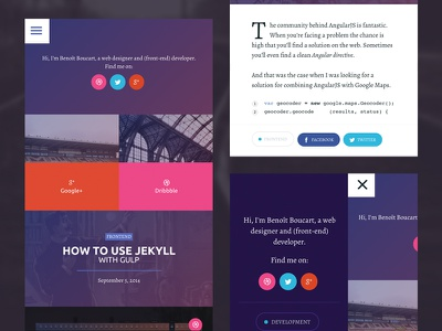 Magazine mobile view - LIVE mobile blog css design responsive magazine grid menu nav social toggle