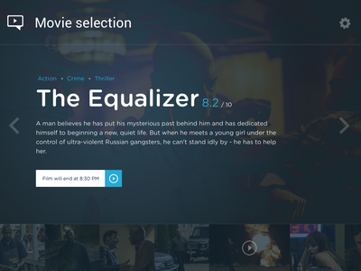 Media player (WIP) movie player ui ux video app desktop application media gallery sketch