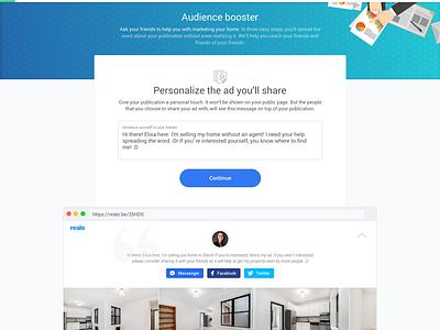 Audience Booster ux multistep form steps flow design