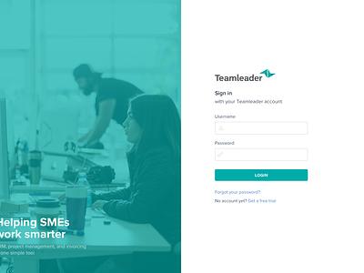 Login Redesign of Teamleader picture redesign teamleader login