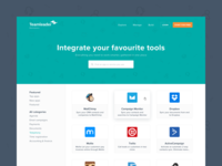 Teamleader Marketplace - Integrate your favourite tools ux product design ui tools teamleader marketplace integrations design connect