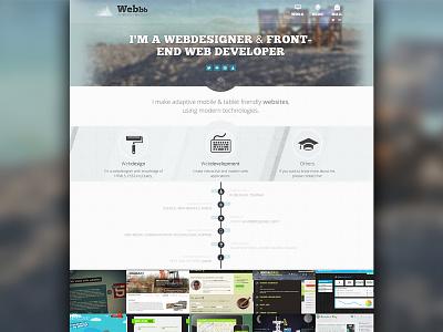Portfolio design - Webbb webdesign portfolio belgium timeline website skills webdesigner