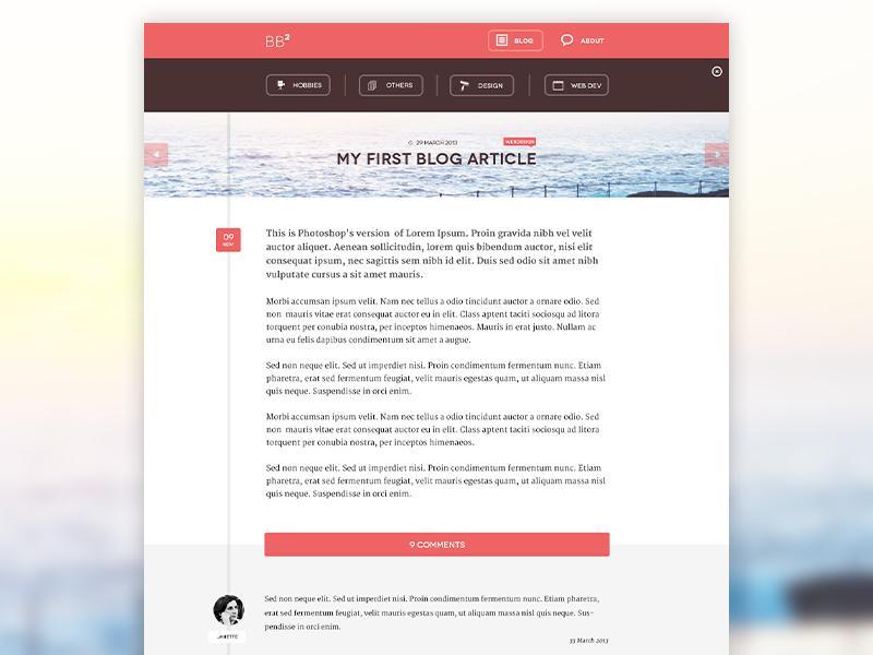 My first personal blog design clean flat blog personal webdesign ui modern ui fresh timeline