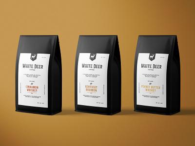 White Deer Coffee Packaging packagingdesign coffeelogo coffee branding coffeeshop brandingdesign design coffee shop coffeebranding coffeebrand branding