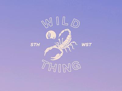 Wild Thing brand design branding illustration travel design retro design boho brand desert design american west southwest design graphic tee design merch design