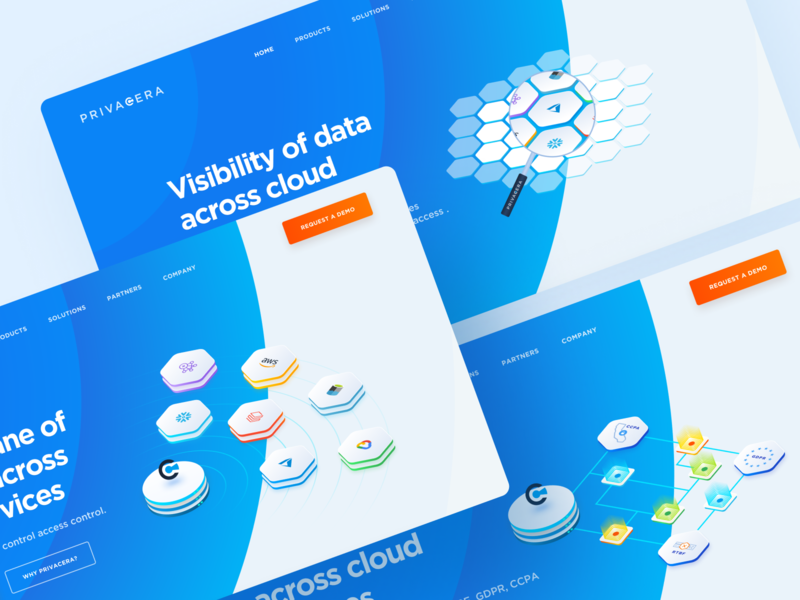 Enable Secure Data Sharing In The Cloud website platform big data security 3d isometric infographics cloud migration google cloud snowflake azure analytics aws databricks sensitive data data compliance governance cloud apache