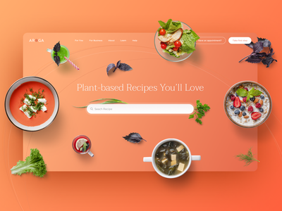 Building Wellness Rather Than Treating Diseases clinic bold gradient food design redesign medical illustration weight loss health mindfulness landing page medicine recipes healthcare uxdesign uidesign webdesign website lifestyle