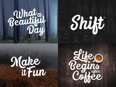 Replay&Tyler Typeface handwritten bar fog forest beautiful shift coffee identity logo marker typeface font