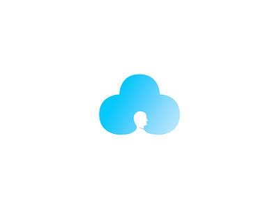 Head in the cloud gradient head clouds blue