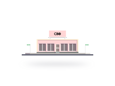 Hovering Shop building house nice clean design flat pink shop