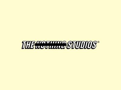 The Nothing Studios black white 3d beige brand fashion nothing studio logo