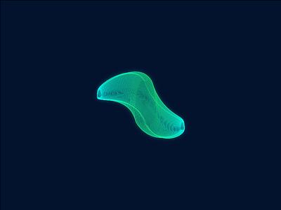 Wormhole worm hole dark glow cyan green turqoise blue galaxy wormhole