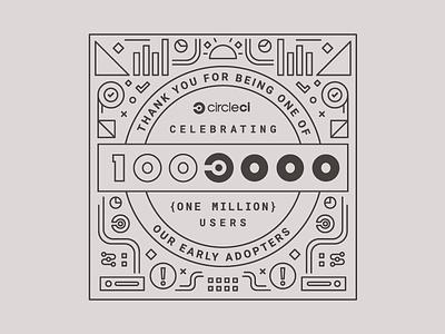 100 million users users million 1000000 circleci pattern lineart line