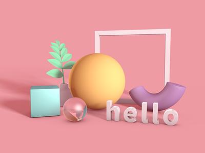 Hello 3D cinema4d c4dfordesigners 3d hello c4d