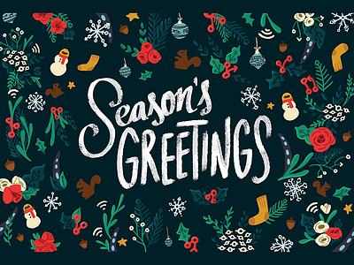 GitHub Holiday Card 2017 holidays commit squirrel ship it octocons git seasons greetings card holiday github