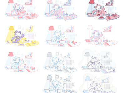 Blog Illustrations product website site blog design illustration developer octocat github