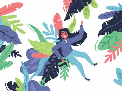 Personal Site Illustrations illustration personal website girl leaf site illustration leaves